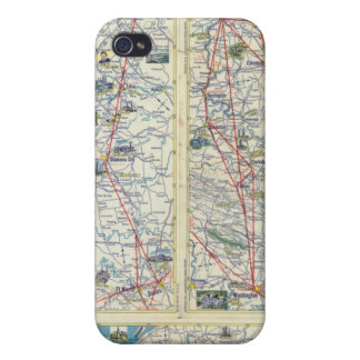Verso American Airlines system map Cover For iPhone 4