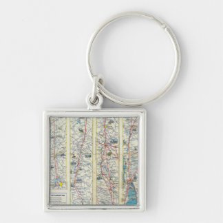 Verso American Airlines system map Key Chain