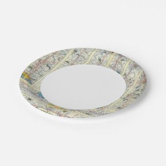 Verso American Airlines system map 7 Inch Paper Plate
