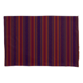 Vert/Stripes Reds Blues Modern Pillowcase Set