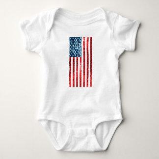 vertical american flag baby bodysuit