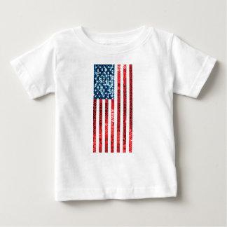 vertical american flag baby T-Shirt