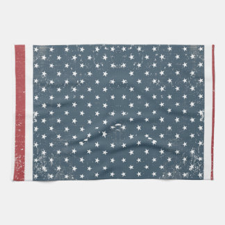 vertical american flag hand towels