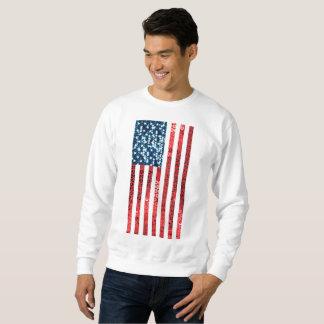 vertical american flag mens sweatshirt