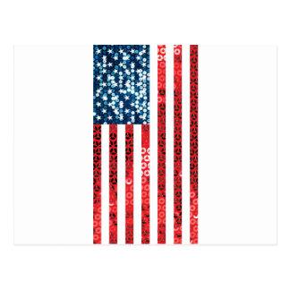 vertical american flag postcard