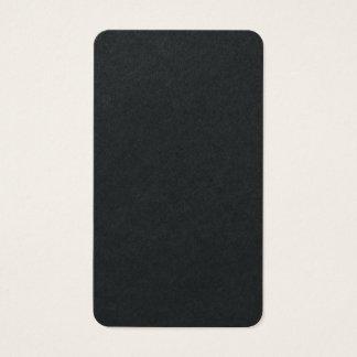 Vertical Artistic Premium Black Unique Design Business Card