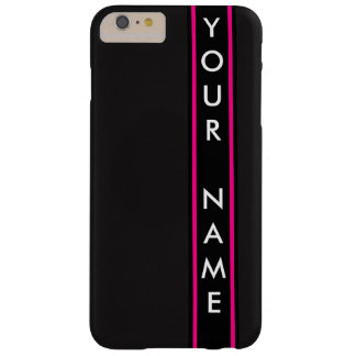 Vertical Bar Customized Black Background Barely There iPhone 6 Plus Case