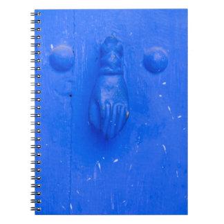 Vertical Blue Door Knocker Spiral Notebook