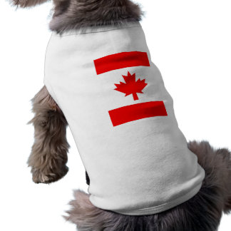 Vertical Canadian Flag Sleeveless Dog Shirt