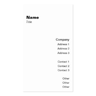 Vertical Classic 2 Business Card Templates