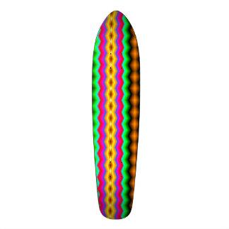 Vertical colorful line pattern 20.6 cm skateboard deck