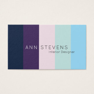 Vertical colorful stripe pattern business card
