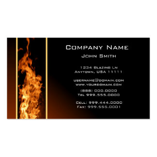 Vertical Flame Business Card