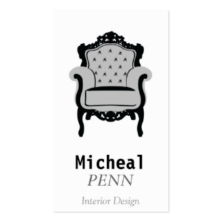 Vertical Furniture, Grey Old Chair, Modern Simple Pack Of Standard Business Cards