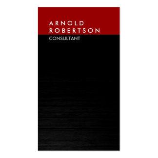 Vertical Gray Dark Red Wood Trendy Business Card