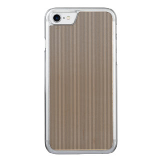 Vertical Grey Stripes Pattern Carved iPhone 7 Case