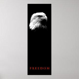Vertical Motivational FREEDOM Bald Eagle Poster
