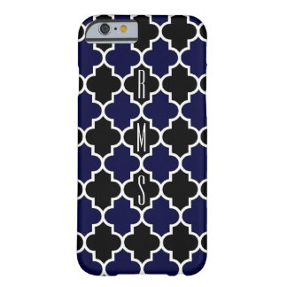 Vertical Navy Blue and Black Monogram iPhone6 Case