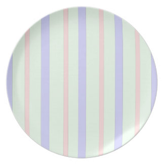 Vertical Pastel Stripes Plate