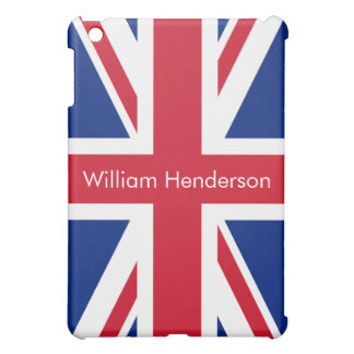 Vertical Personalized UK Flag iPad Mini Case