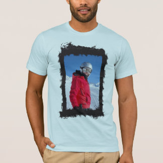 Vertical Photo Grunge Frame Create Your Own T-Shirt