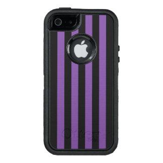 Vertical Purple Stripes OtterBox Defender iPhone Case