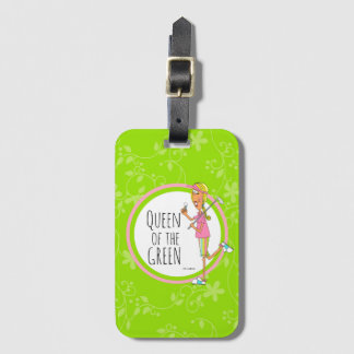 Vertical-Queen of the Green Luggage Tag