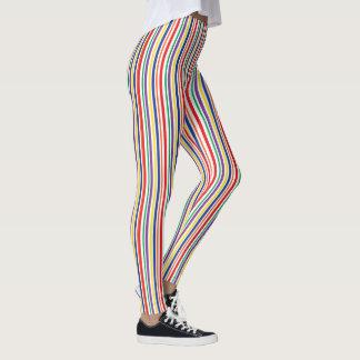 Vertical Rainbow Striped Leggings