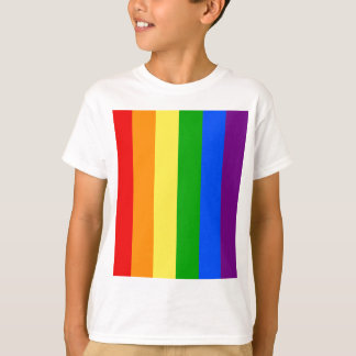 """VERTICAL RAINBOW STRIPES"" T-Shirt"