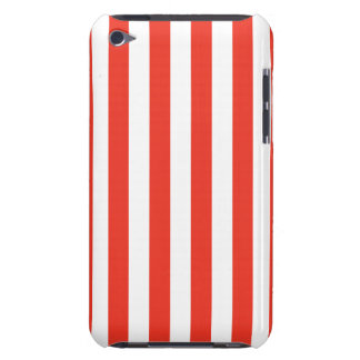 Vertical Red Stripes iPod Case-Mate Case