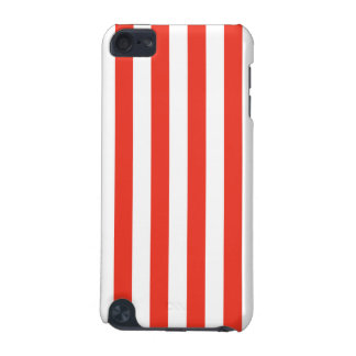 Vertical Red Stripes iPod Touch (5th Generation) Case