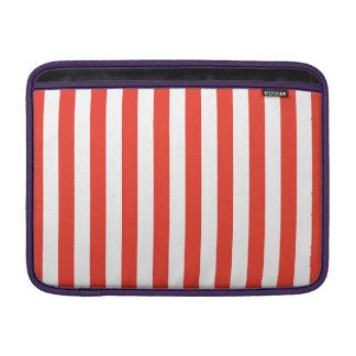 Vertical Red Stripes MacBook Sleeve