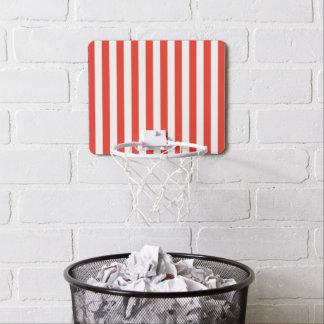 Vertical Red Stripes Mini Basketball Hoop