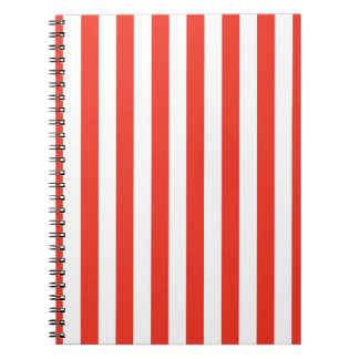 Vertical Red Stripes Notebook