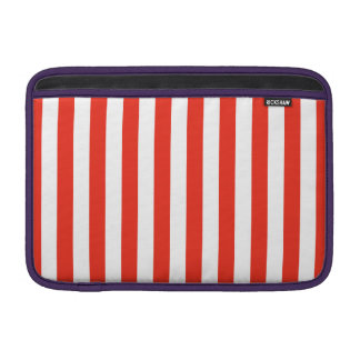 Vertical Red Stripes Sleeve For MacBook Air