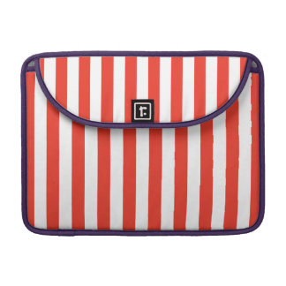 Vertical Red Stripes Sleeve For MacBook Pro