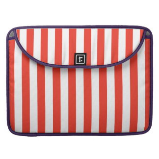 Vertical Red Stripes Sleeve For MacBooks