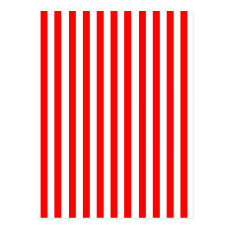 Vertical Red & White Stripes Postcard