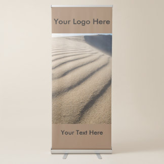 Vertical Retractable Banner with Sand Dune