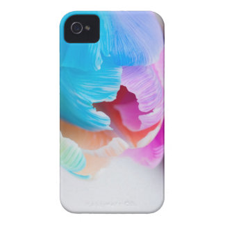 Vertical shoot of unusual multi colored tulip iPhone 4 Case-Mate cases