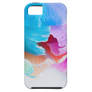 Vertical shoot of unusual multi colored tulip iPhone 5 covers