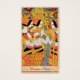 Vertical Song oriental egyptian ladies woman girls Business Card