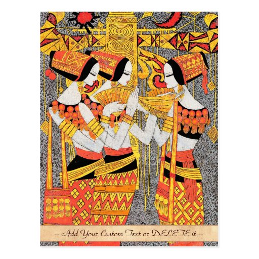 Vertical Song oriental egyptian ladies woman girls Post Card