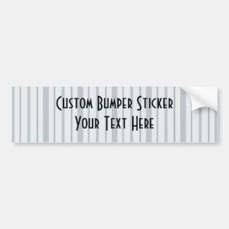 Vertical Stripes 1 - Blue Bumper Sticker