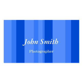 Vertical Stripes (Blue) Business Card Templates
