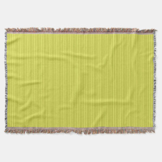 Vertical Stripes Chartreuse Yellow Green Throw Blanket