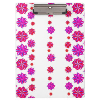 Vertical Stripes Floral Pattern Collage Clipboard