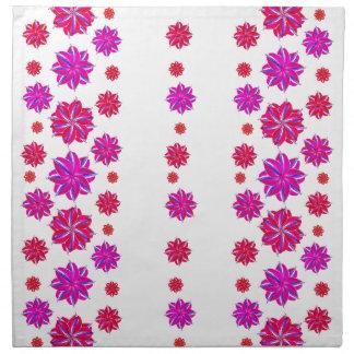 Vertical Stripes Floral Pattern Collage Napkin