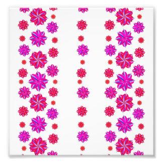Vertical Stripes Floral Pattern Collage Photo Art