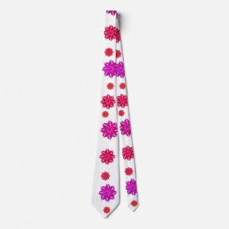 Vertical Stripes Floral Pattern Collage Tie